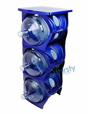 Blue Water Bottle Holder Stand 3 & 5 Gallon Rack 3 Tier Stack Table Counter New