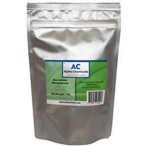 Zinc Sulfate Monohydrate Powder - 35.5% Zn - 1 Pound