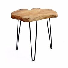 "20"" Tall Cedar Wood Root Live Edge End Table,Hairpin Leg , Side Table, WELLAND"