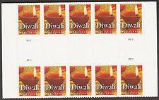 US 5142 Diwali forever horz gutter block 10 MNH 2016