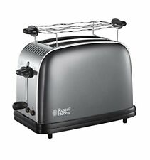 Russell Hobbs 21650 4 Fentes Extra Large Texture Grille-pain │ un compartiment à miettes amovible │ Whit