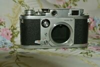 Minolta 35 Model IIB 35mm Rangefinder Camera 105254 Shutter Works/Dry Curtain