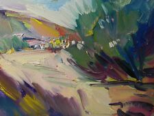 JOSE TRUJILLO ORIGINAL Oil Painting Modern Impressionist ROAD TRAIL Countryside