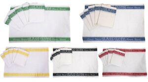 Glass Cloths Tea Towels Pack of Six Linen Union