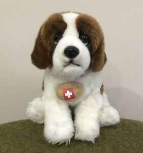 "2015 Toys R Us Animal Alley 12"" St. Bernard RESCUE DOG Realistic Stuffed Plush"