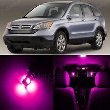 8 x Pink LED Lights Interior Package For Honda CR-V CRV 2007 - 2012 + Pry TOOL