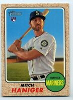 2017 Topps Heritage MITCH HANIGER Logo Rookie Card RC #676 Seattle Mariners