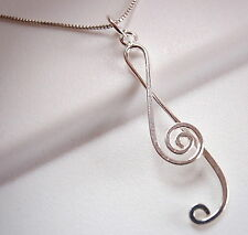 Treble Clef Pendant 925 Sterling Silver Corona Sun Jewelry sheet music musician