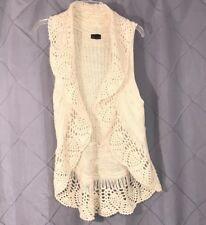 Coco + Carmen Charcoal Chunky Knit Hoodie Sweater Maxi Vest Sz L - $225. NWT