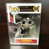 "Funko Pop Disney The Lion King Live : PUMBAA #550 Vinyl ""MINT"" w/case -IN STOCK-"
