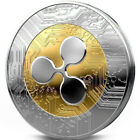 Gold &Silver Ripple coin Commemorative Round Collectors Coin XRP Coin With Case