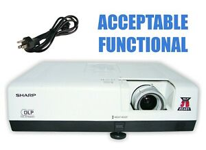 Sharp PG-D2710X DLP Projector - Acceptable Functional w/Power Cable