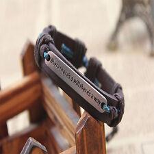 Handmade Men Cuff Surfer Tribal Hemp braided Wrap Wrist Leather Bracelet