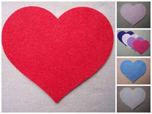 FELT Large HEARTS Die Cuts Valentines Decorations Christmas Appliques - VARIOUS
