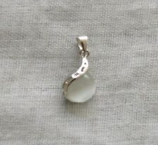 White Opal Pendant - 925 Sterling Silver - Fashion Style Brand New