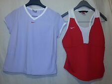 Lot of 2 Nike Womens Large Fit-Dry Sphere Running Tennis Tank Lavender Red NWOT