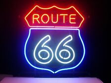 """Brand New ROUTE 66 Vintage Sign Beer Bar Neon Light Sign 16""""x15"""" [High Quality]"""