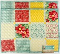 Pioneer Woman Diamond Patchwork Quilted Reversible Table Placemats Set of 2