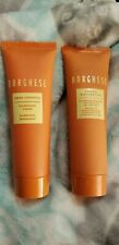 Lot of 2 Borghese Cleansing Creme & restorative mud mask (30 ml/1 oz each) NEW
