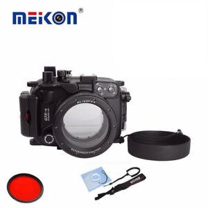 Meikon 40M/130ft Underwater Camera Diving Housing Case für Canon G7X Mark II