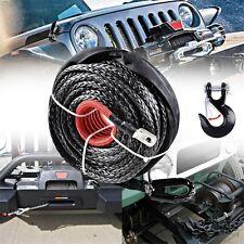 25MX12MM 12000LBs Verricello Corda Cavo Filo Sintetico +gancio Winch Rope Cable