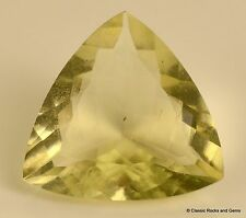 Libyan Desert Glass AAA Faceted GemTrillion Cut Meteorite Impactite 8.4ct 16.7mm