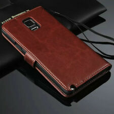Brown Genuine Leather Flip Wallet Stand Case Cover For Samsung Galaxy Note 3 III