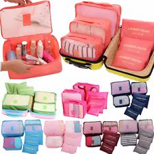 6PCS водонепроницаемая одежда сумки для путешествий хранения упаковка куб багаж органайзер сумка