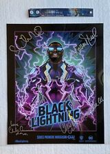 SDCC 2017 Black Lightning Signed Poster 15x12 With Wristband WB