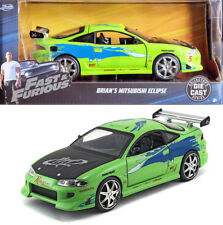 1995 Mitsubishi Eclipse Fast and the Furious Brian VERDE 1:24 Jada Toys 97603