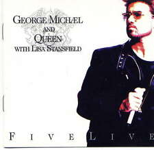 GEORGE MICHAEL AND QUEEN -  Five live - CD Maxi - USA