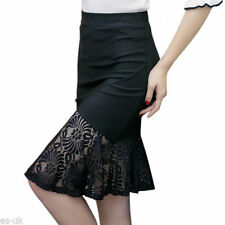 Unbranded Cotton Blend Knee-Length Skirts for Women