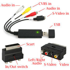 USB 2.0 to 3 RCA Audio S-Video Capture Converter PC Adapter Cable TV VHS DVD DV