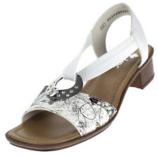 Rieker Damen Sandale Sandalette Pantolette Schlupfschuhe