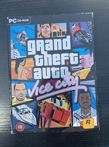 Grand Theft Auto Vice City Action Classic PC CD-Rom 2003 Game Rockstar Games Map