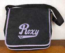 Roxy Black & Purple Laptop Bag Backpack Tote Messenger Quicksilver Skater Retro