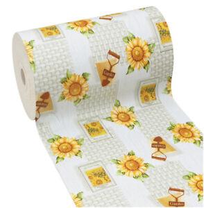 Teppich Küche Sonnenblumen Weich Gummi PVC Antiflecken Anti-rutsch Rustic Blumen