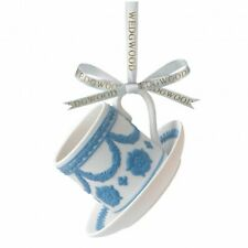 Wedgwood Christmas Iconic Teacup and Saucer Tree Decoration (& Boxed)