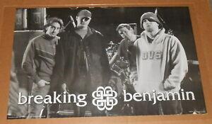 Breaking Benjamin Poster 2005 Original 36x24 RARE