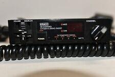 Kraco Model KCB-4007 40 Channel CB Radio with Radio Shack Microphone 21-1172