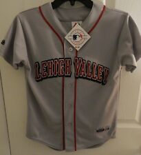 Lehigh Valley Iron Pigs Majestic Gray Road Jersey, Youth Size Medium