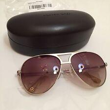 Michael Kors Key Largo M2051S Gold/Brown Aviator Sunglasses New