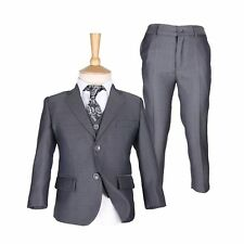 Boys Burgundy Suits Boy Blue Wedding Suit Pageboy Suits Kids Formal Grey Suits