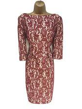 Gok Wan Para Tu Vestido Con Forro De Soporte Apliques de color rojo oscuro-Reino Unido 14