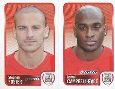 008 S. FOSTER/CAMPBELL-RYCE BARNSLEY.FC STICKER FL CHAMPIONSHIP 2010 PANINI