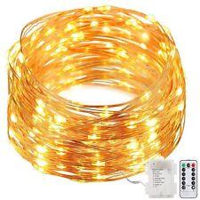 GDEALER 8 Modes String Lights 33ft 100LED Copper Wire Fairy Starry String Lights