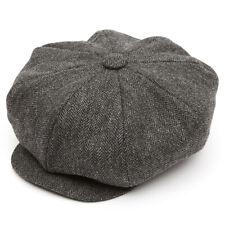 8 Piece Oversized Tweed (Z537) Baker Boy Flat Cap