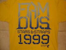 Famous Stars & Straps 1999 Skateboarding Apparel Yellow T Shirt XL