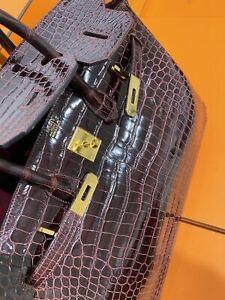 HERMÈS Krokodil Kroko Croco Birkin 35 Bag Damen Tasche Handtasche Handbag Wieneu