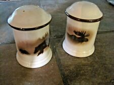 BIG SKY CARVERS, 'HIGH COUNTRY HARMONY' SALT AND PEPPER SHAKERS, EUC